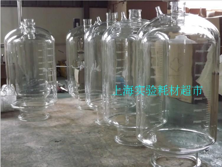 10L three layer glass reactor body (with discharging material) jacketed reactor double layer reactor body