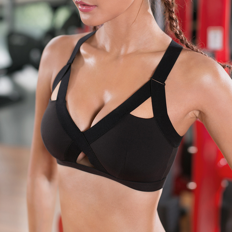 Die sport - BH 's en vrouwelijke steun zonder bh die beha' s fitness ondergoed stalen vest C van yoga.