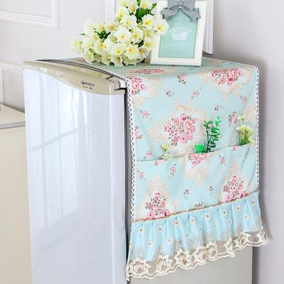 棉麻冰箱防尘罩单开门对双开门冰箱罩盖布巾田园滚筒洗衣机罩盖巾