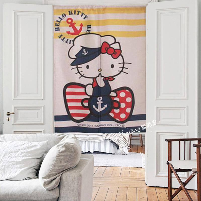 Personalizado tecido de algodão olá Kitty crianças Sala quarto banheiro Cortina rod - - - pacote