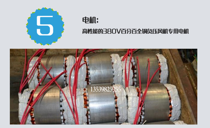 Special motor and motor accessory for negative pressure fan / industrial exhaust fan / exhaust motor