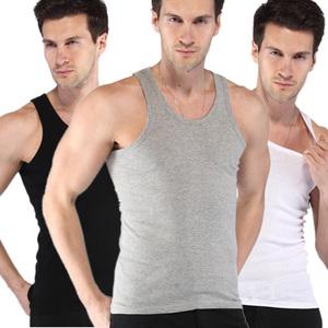 男土夏季男士背心修身型纯棉打底白汗衫二道全棉青年中年宽松透气