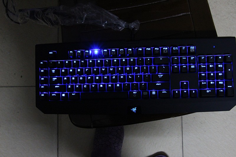A Razer, Razer teclado mecânico cherry Verde Azul do Jogo black widow spider Ultimate Edition de 2012