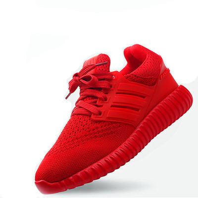 爆米花红色椰子鞋男女情侣跑步鞋健身韩版百搭网布透气运动鞋网鞋