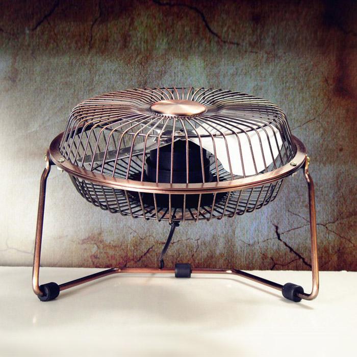 よんしよ寸銅色の復古ミニ扇風機扇風機オフィスデスクトップusb小さい寮ろく寸鉄扇デスクトップシズネ