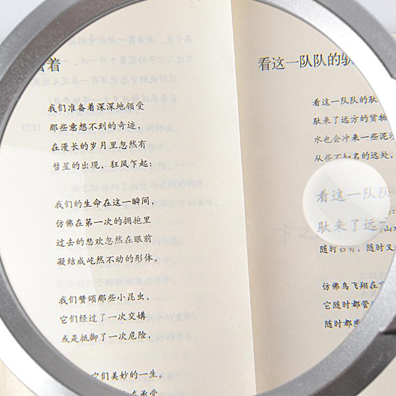 Más de 100 mm de mantenimiento con lámpara de escritorio lupa HD 10 veces mayores de 20 veces la lectura multifuncional