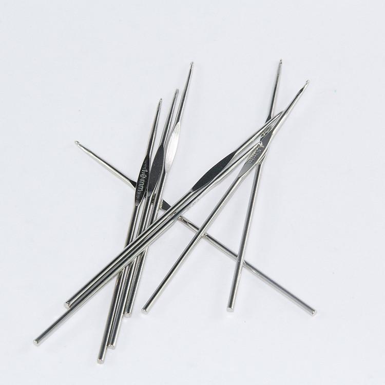 - la maglia di Acciaio inossidabile uncinetto Set unico strumento uncinetto Testa bene uncinetto Tromba uncinetto tutta una serie di 8.