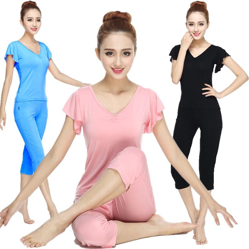 Die sport - outfit im Sommer Sieben Frauen hosen fitnessstudio kleidung yoga - kleidung - la - Hose yoga tragen kurzärmelige
