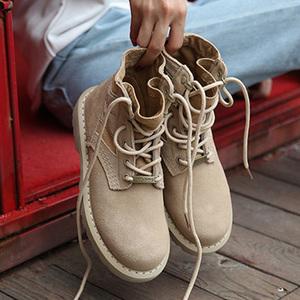 吴京战狼2同款鞋子原宿马丁靴男士高帮雪地沙漠工装军靴加绒棉鞋