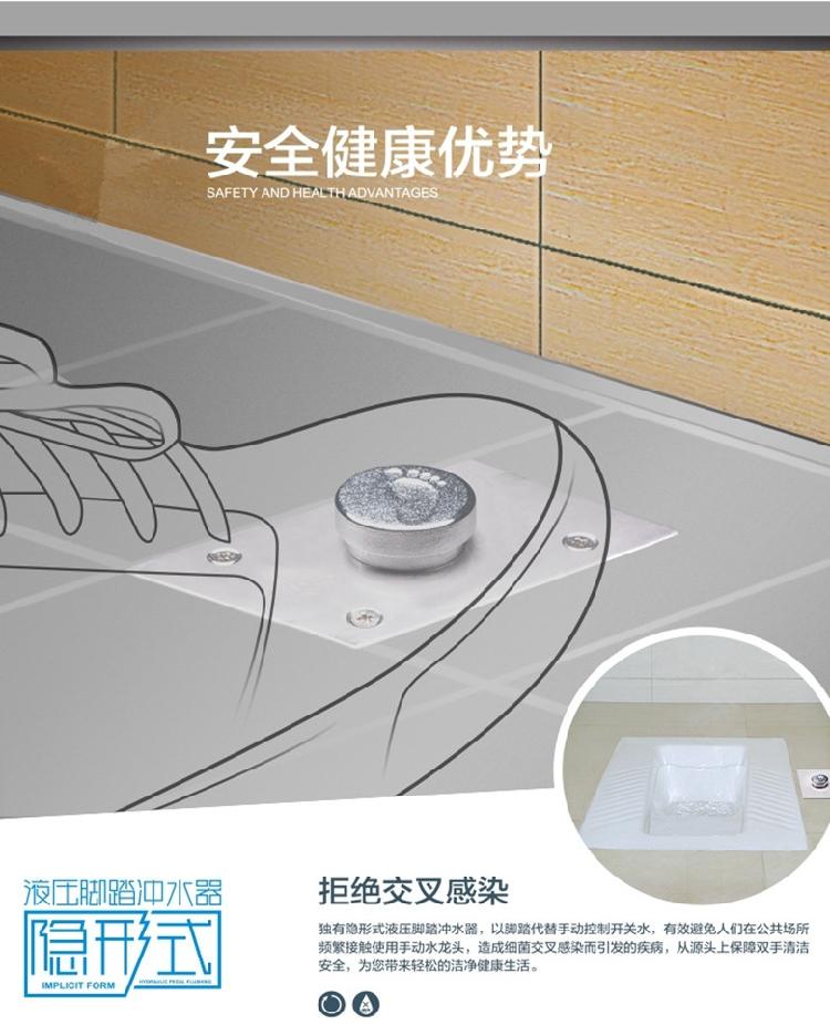 PPR πόδι θαμμένο τουαλέτα φλος καζανάκι τα υδραυλικά αόρατο τύπου σκαμνί καθυστέρηση βαλβίδα πλύσης