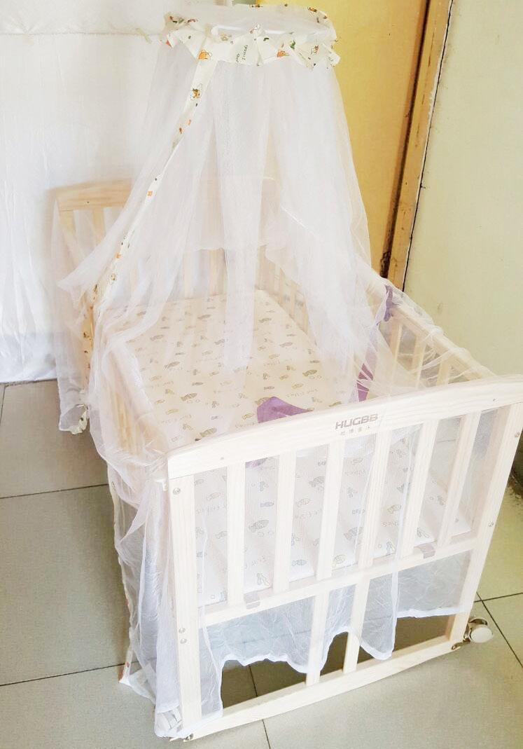 1.2 μέτρα μεγάλης πολυλειτουργική ξύλο χωρίς μπογιά βρεφικό κρεβάτι μωρό σέικερ στο κρεβάτι στο γραφείο της ββ μεταβλητή
