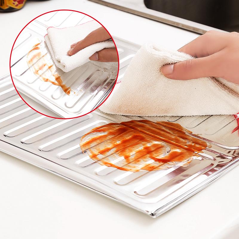 sporák z hliníkové fólie v zadní části kuchyně plyn varné desky z oleje na smažení tepelnou ochranu proti páru proti výpary separátorů