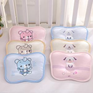 婴儿夏季枕头冰丝荞麦新生儿纠正0-3-6个月0-1岁宝宝透气定型枕