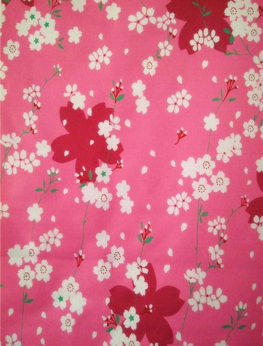 Fleur de cerisier japonais à bâtonnet restaurant coréen décoratif rideau rideau rideau semi - rideau suspendu de peinture