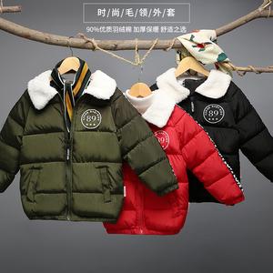儿童反季棉衣童装加厚羽绒棉服宝宝男童冬装短款棉袄面包服外套潮