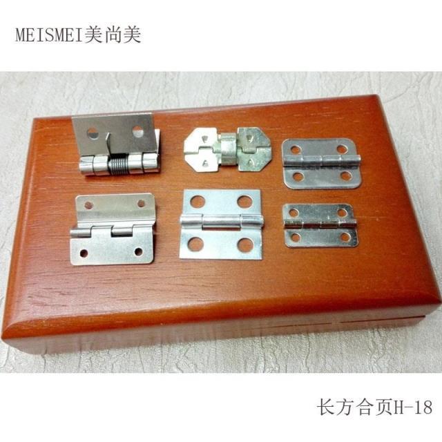 Caja de madera rectangular blanco antiguo bisagra bisagra bisagra de cajas de embalaje de hierro muy pequeñas bisagras bisagras de metal