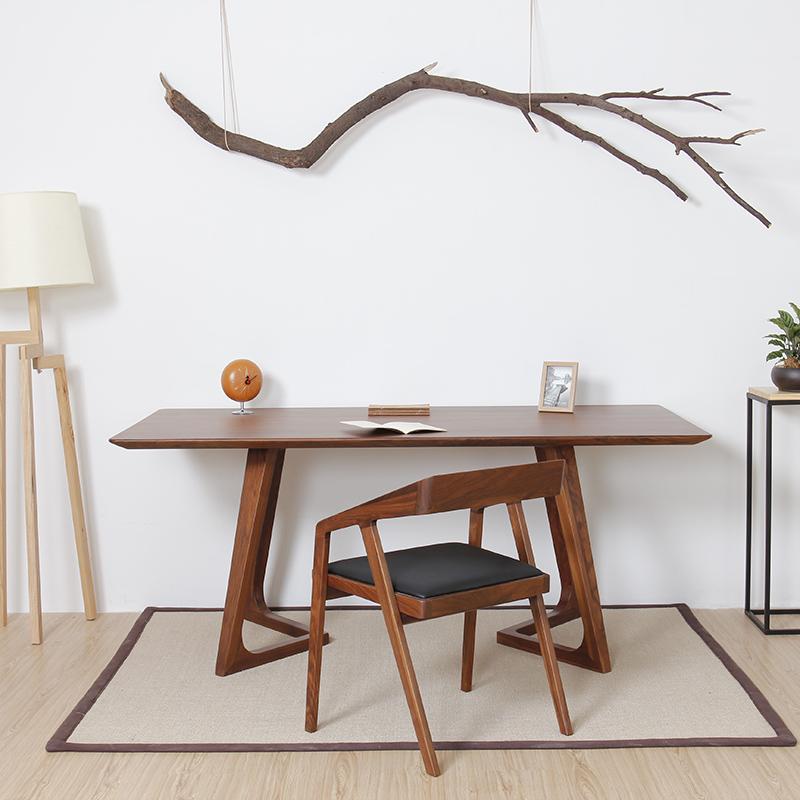 Rétro - LOFT nordique de tables et de chaises en bois rectangulaire simple de manière simple le loisir de bureau d'un ordinateur de bureau personnalisé