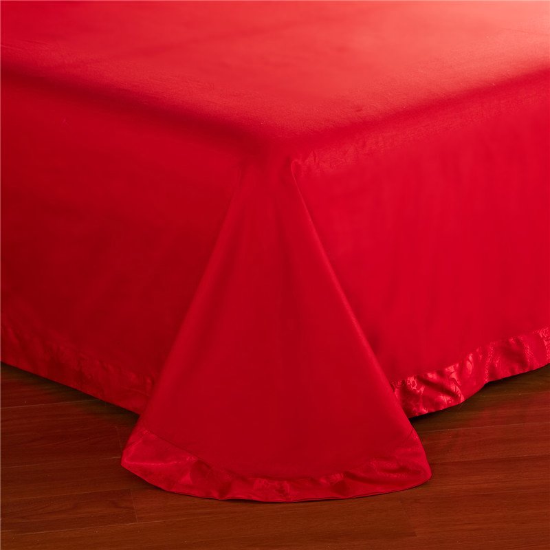 The high-end brand special offer genuine Satin Jacquard Tencel modal four piece big red wedding cotton bed bed