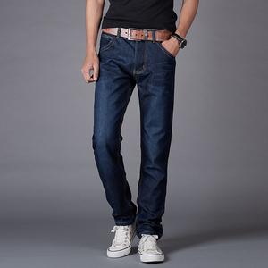 Pieh Lee男士牛仔裤男秋季直筒宽松大码修身冬款加绒加厚休闲长裤