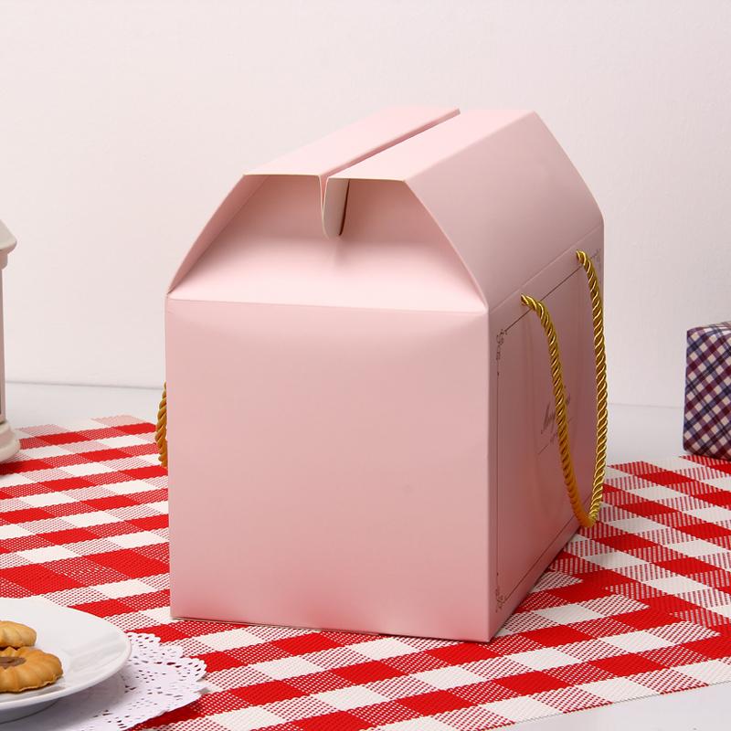 gave cake box side nogle kiks hjerte æske nougat bærbare nytår gaveæske med 12