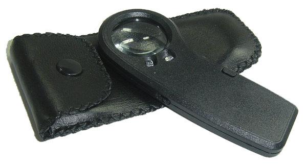 COM luzes de led de Alta potência portátil de identificação 28mm30 vezes LUPA lente de vidro óptico