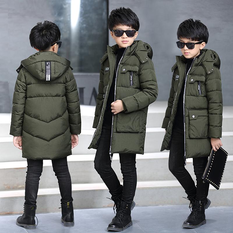 中大童男童棉衣外套加厚棉袄冬装2017新款儿童棉服中长款男孩秋冬