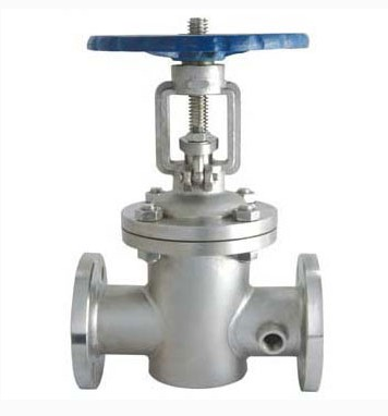 BZ41W-16P/2P stainless steel insulated gate valve, 304 jacket insulation gate valve jacket, heat insulation flange gate valve