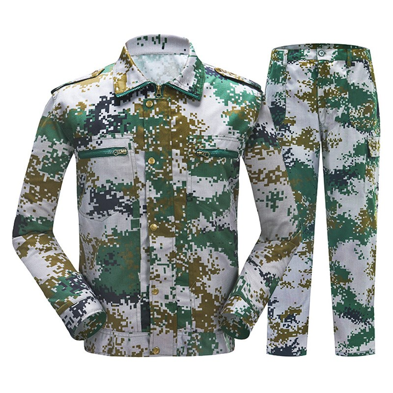 Overalls, men's wear clothes, camouflage site repair, spring and winter thickening, winter uniforms, long sleeved cotton wear