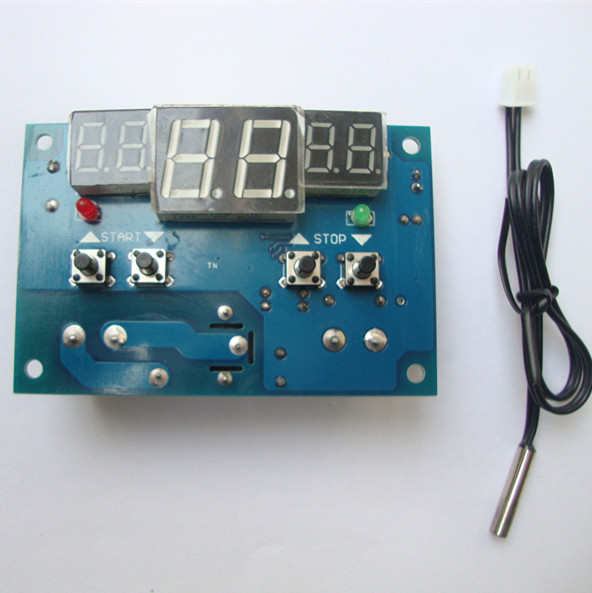 24V temperature controller switch, adjustable temperature digital display electronic temperature controller, set three windows up and down