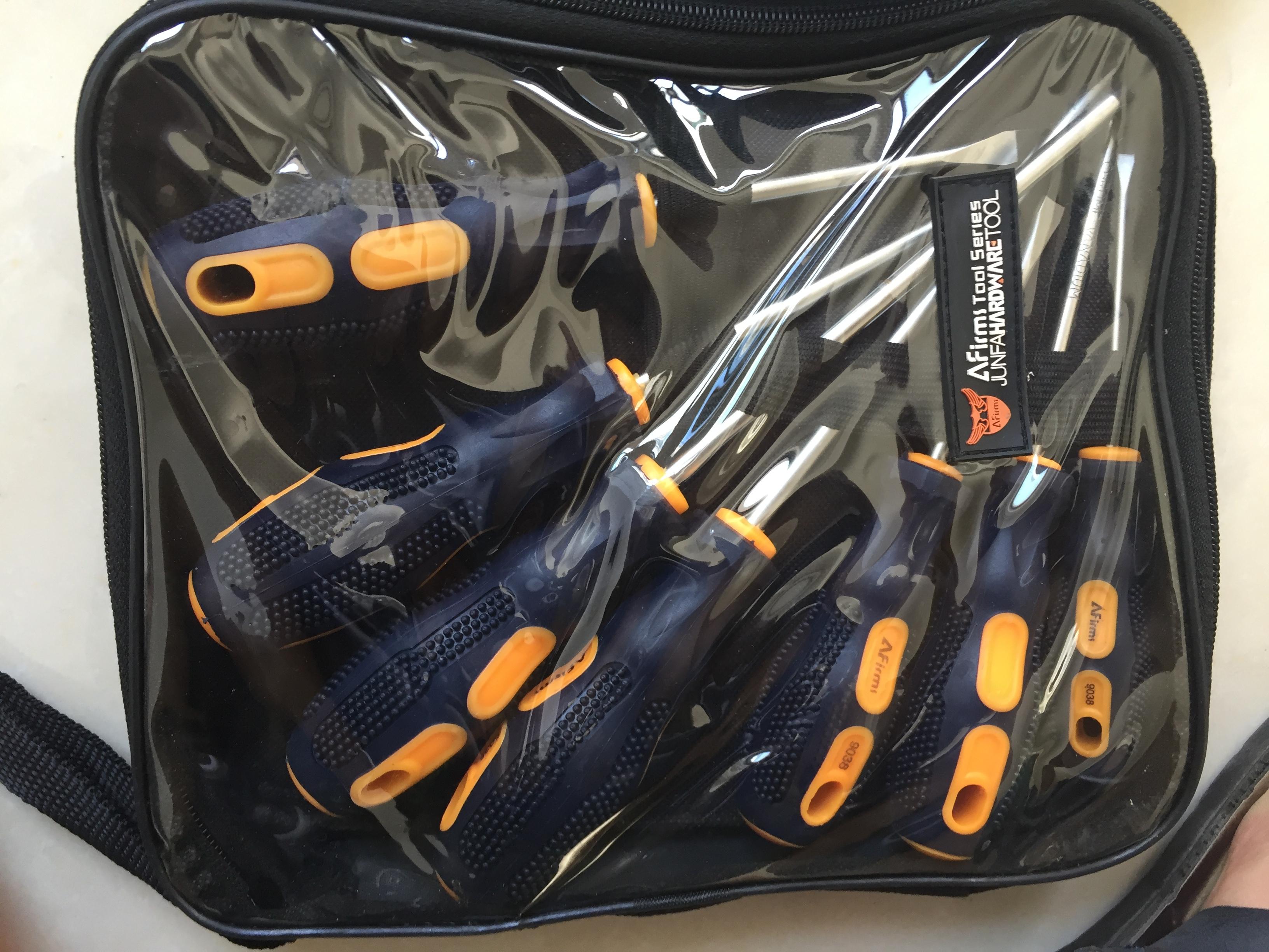 Household screwdriver set, 6 piece screwdriver, tool screwdriver family set