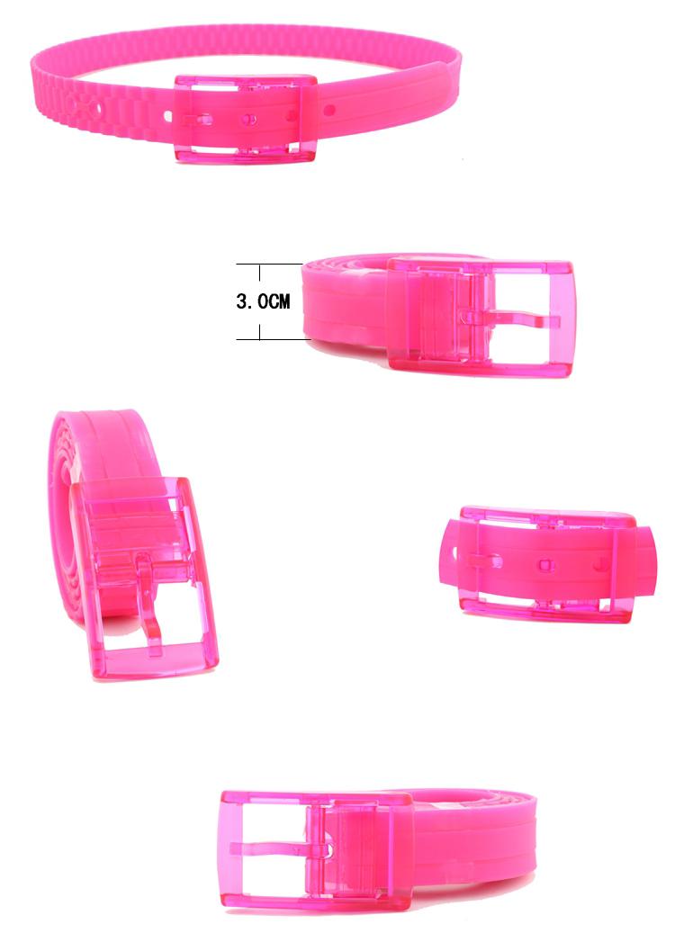 プラスチックは香りのベルトの色は金属ゴムのシリコンのシリコンのシリカゲルの男女の予防のために、塑料ベルトのズボンは黒の広い