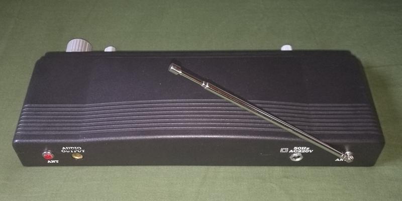 広帯域受信テレビラジオバイオレットが無線マイク受信機改造スケルチ