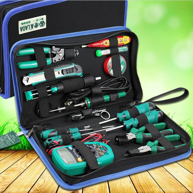 Soldering electric iron suit with the table of domestic students welding pen electronic repair welding telecommunications Kit