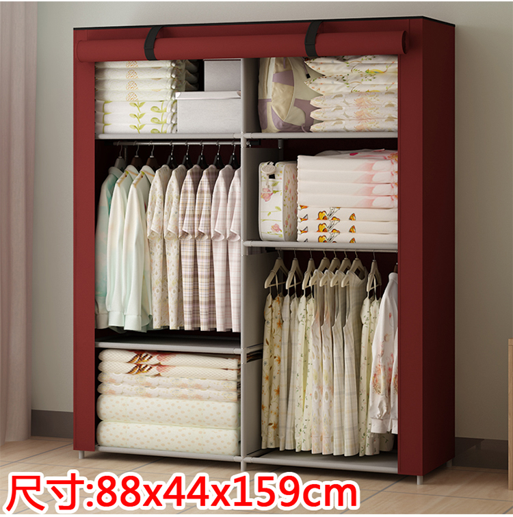 new portable bedroom furniture clothes wardrobe closet storage cabinet
