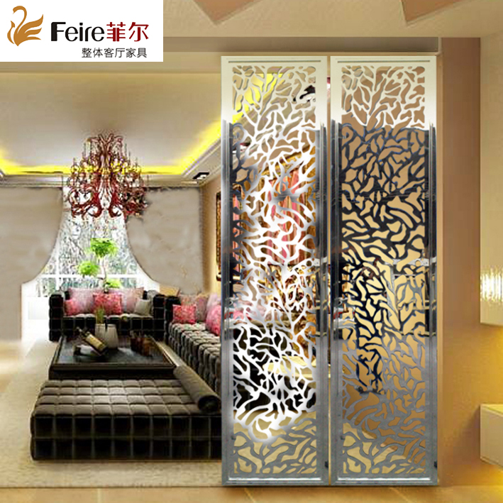Custom size stainless steel screen processing European style screen partition screen hollowed out