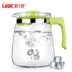 紫丁香耐热高温防爆玻璃水壶冷热水壶大容量果汁壶S23