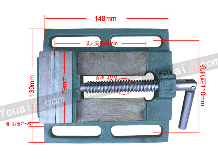 Bench vice bench drill fittings small 2.5 inch 3 Inch 4 inch vise 5 inch 6 inch 8 inch American clamp vise machine