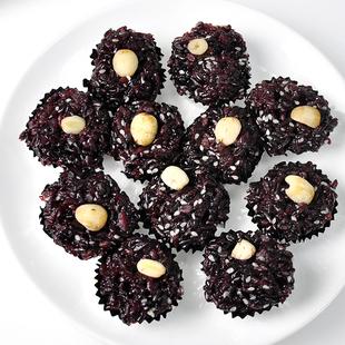 米糕小米糕黑米糕传统小吃黑米莲子黑米饭蒸糯米糕糯米饭小吃36粒