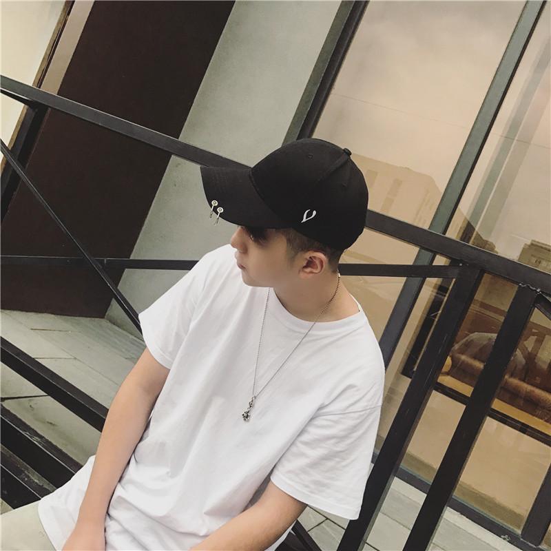 Love кулон обруч бейсболки - летом корейский моды Кэп личности секретаря ленты молния хип - хоп шапка