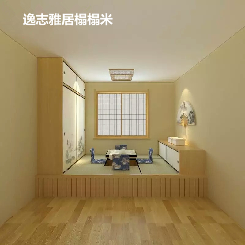 Beijing Japanese tatami wood custom storage platform bed and bedroom study overall custom factory direct sales