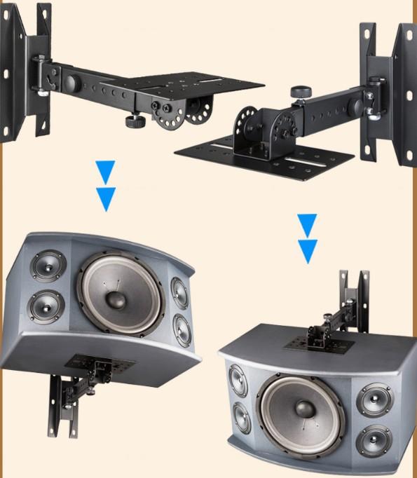 Cine de satélites en órbita el trípode soporte computadoras mijo sonido altavoces pequeños altavoces para colgar en la pared de metal.