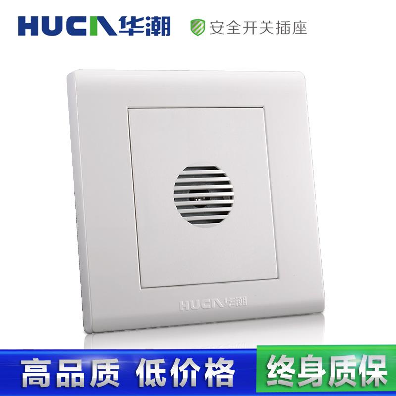 Huachao الجدار التبديل المقبس لوحة 86-E3 أبيض أنيق سلسلة التحكم الصوتي ضوء تأخير التبديل