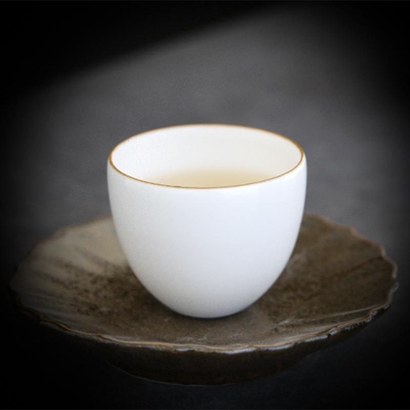 談得來 紫金口蛋殼茶杯單杯主人杯功夫茶具零配件新品 景德鎮陶瓷
