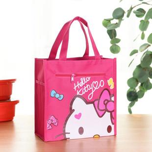 可愛卡通男女學生手提飯袋多功能防水熱賣飯盒包方形便當保溫包