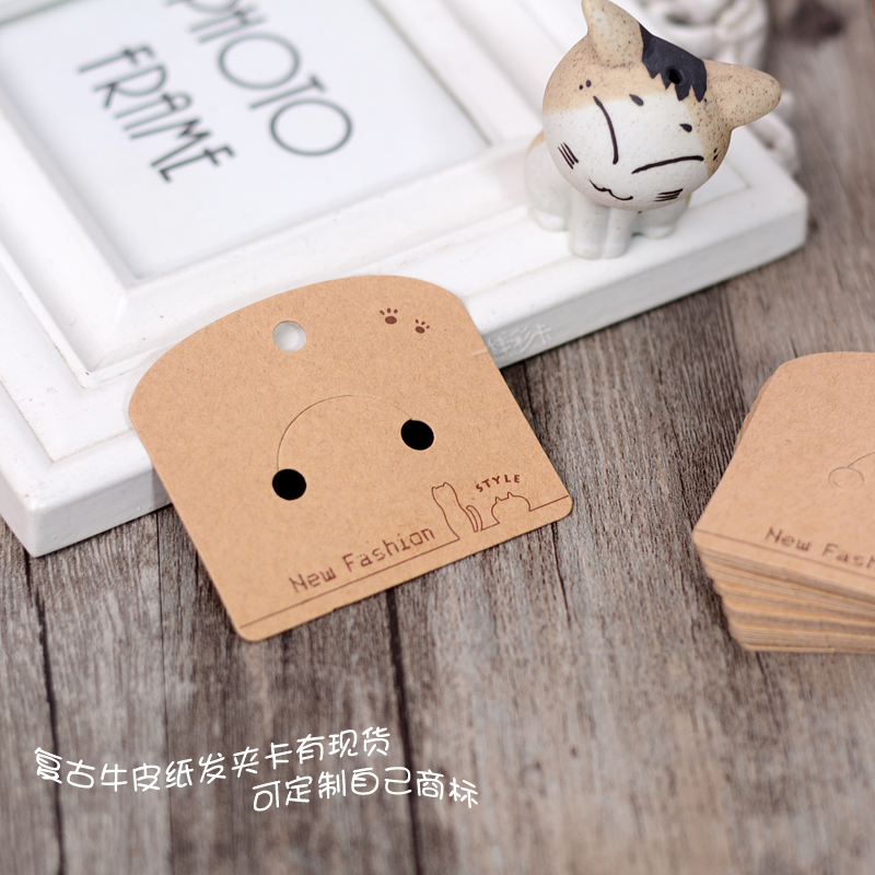 The ring band universal card hairpin kraft paper tag spot jewelry store tag trademark custom printing