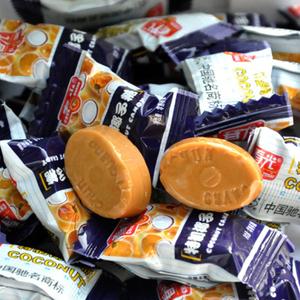海南特产春光特制椰子糖硬糖正品结婚喜糖果散装500克90粒特浓香