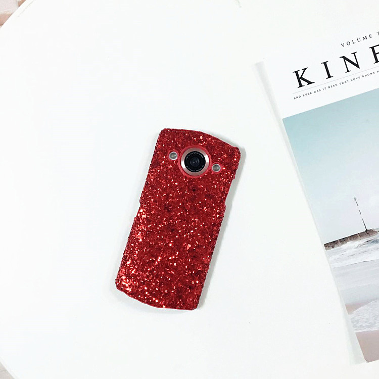 Red Sequin net fotos M4/M4s shell telefone móvel luxuoso Das Mulheres V4/T8 MeiTuM6/M6s/M8 personalidade.