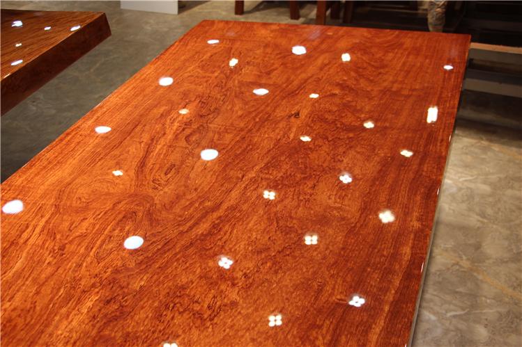 Bar fleur de bois de dalles de bureau moderne de grumes de table à thé simple projet de table de conférence chef de table table rectangulaire