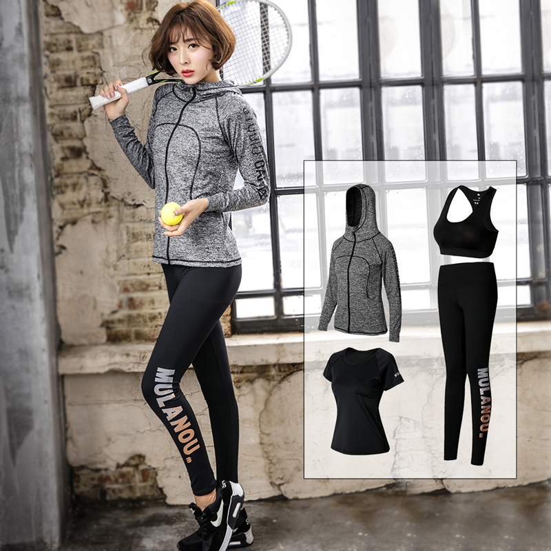 New autumn and winter Yoga suit, long sleeve Hooded Coat, self cultivation, fast running, professional sports morning running suit