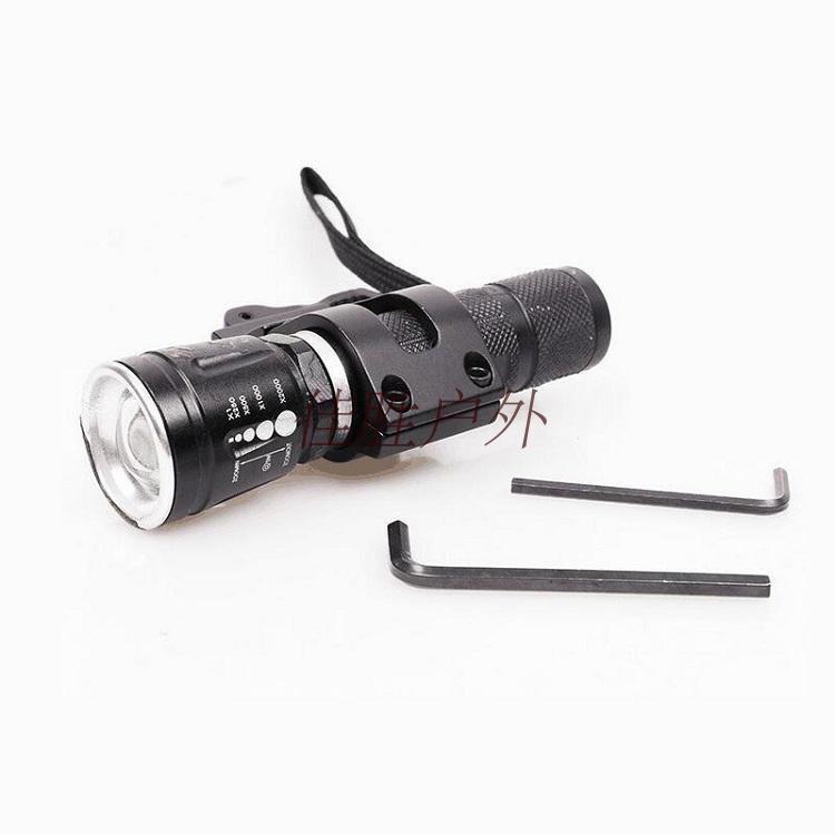 Water jet gun displacement clamp slot, 20mm flashlight tube clamp fixed clamp bracket diameter, 30mm neck clamp